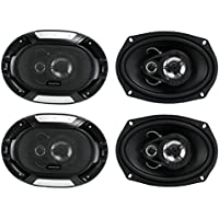 4) New Renegade RX693 6x9 600 Watt 3-Way Car Audio Coaxial Speakers Stereo
