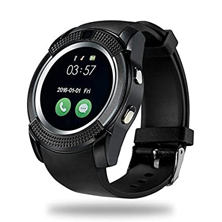 da494e52472 EarTech V8 Bluetooth Touch Screen Smart Watch Phones Compatible with All  Android and iOS Devices -
