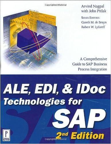 ALE, EDI, & IDoc Technologies for SAP, 2nd Edition (Prima
