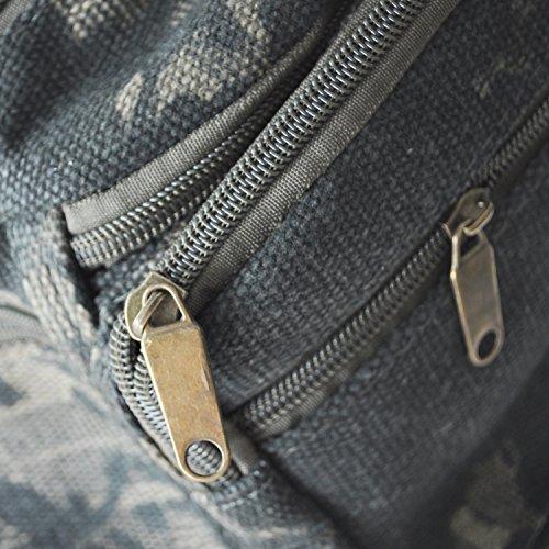 SODIAL (R) Ragazzi Ragazze bambimi Canvas Camo Vita BUM borsa da viaggio vacanza Nuovo Securezza - verde militare