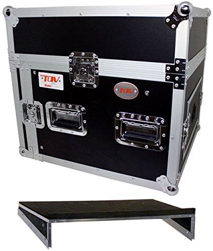 Slant Rack Shelf - Pro X T-8MR 8U x 10U Space Slant DJ Combo Rack Flight Case +Sliding Laptop Shelf