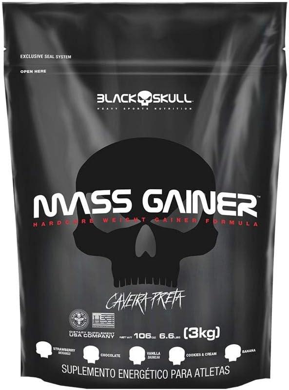 Mass Gainer Refil (3Kg) - Sabor Banana, Black Skull por Black Skull