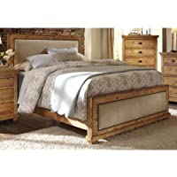Progressive Furniture Willow King Upholstered Headboard, 82 by 4 by 55', Distressed Pine