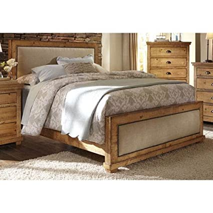 Merveilleux Progressive Furniture Willow Upholstered Queen Headboard, 64 By 4 By  55u0026quot;, Distressed Pine