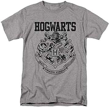 118984f800 Amazon.com: Popfunk Harry Potter Hogwarts Logo T Shirt (Small) Gray:  Clothing