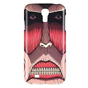 Attack on Titan Face Snap on Plastic Case Cover Compatible with Samsung Galaxy S4 GS4Kimberly Kurzendoerfer
