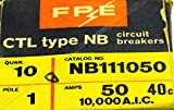 FEDERAL PACIFIC NB111050 FPE Bolt-on Circuit Breaker 1 Pole 50 Amp