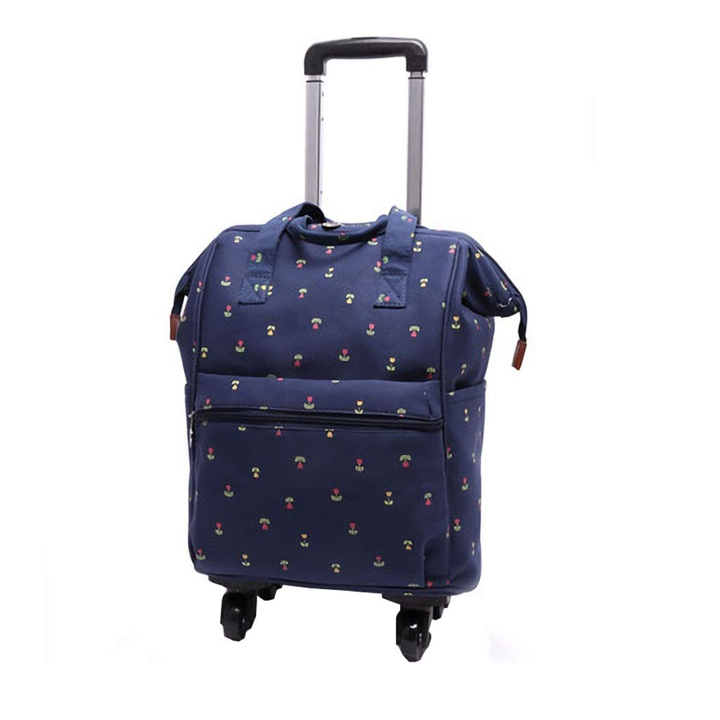 Back Detachable and Foldable Shoulder Bag Medium 18 inch ZFF-lvxingbao Trolley Bag Can Be Boarded in A Portable Travel Bag Color : 2