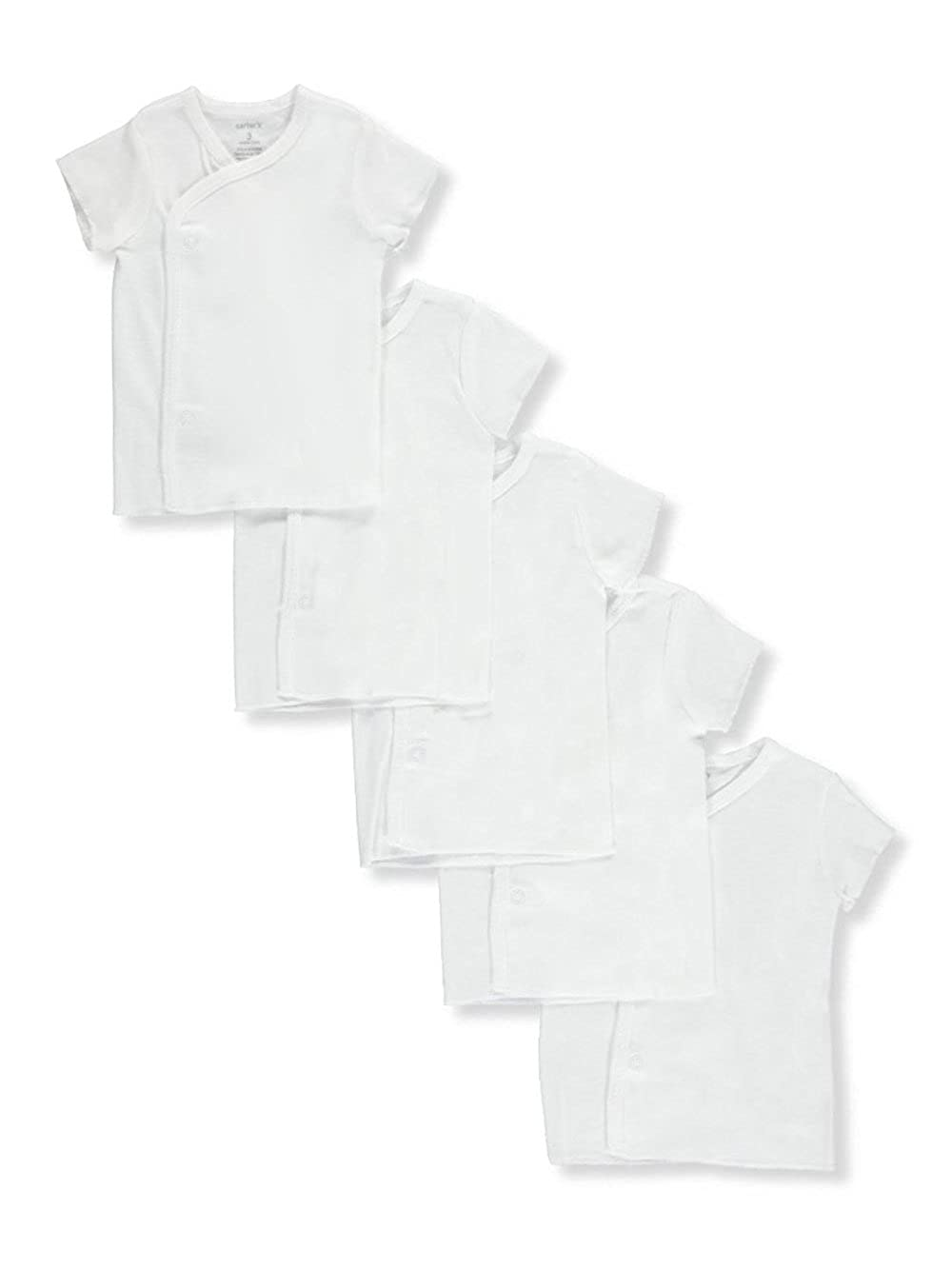 Carters Unisex Baby 5-Pack Short Sleeve Side Snap Tee, White, 24M Carter's