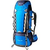 Mountaintop 60L Water-resistant Hiking Backpack/Trekking Bag Backpacking/Climbing Backpack/camping Backpack/Travel Backpack for Mountaineering with Rain Cover-651II