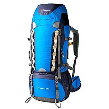 Mountaintop Outdoor Waterproof Hiking Climbing Backpacks 60l blue
