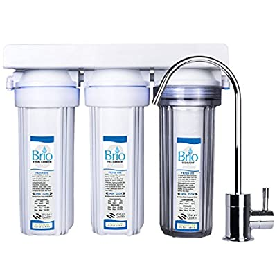 Magic Mountain Water Products Presents the Brio Three Stage Under-Sink Water Filter w/ Faucet