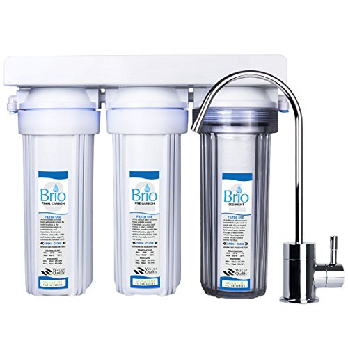 Magic Mountain Water Products Presents the Brio Three Stage Under-Sink Water Filter w/ Faucet by Brio