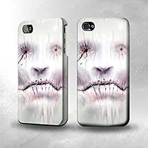 Apple iPhone 4 / 4S Case - The Best 3D Full Wrap iPhone Case - Horror Face