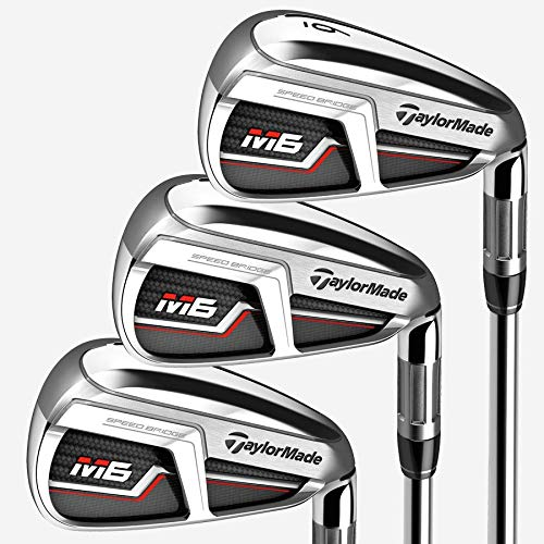 TaylorMade Golf M6アイアン8本セット (男性用、左利き、シャフト: Fujikura Atmos オレンジ、フレックス: R、セット内容: 4I,5I,6I,7I,8I,9I,PW,SW) N6880407 141[並行輸入]