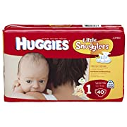 Huggies Little Snugglers Diapers, Size 1, Jumbo Pack, 40 ct
