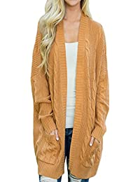 Sexy Womens Open Front Knit Texture Long Cardigan Sweater Coat