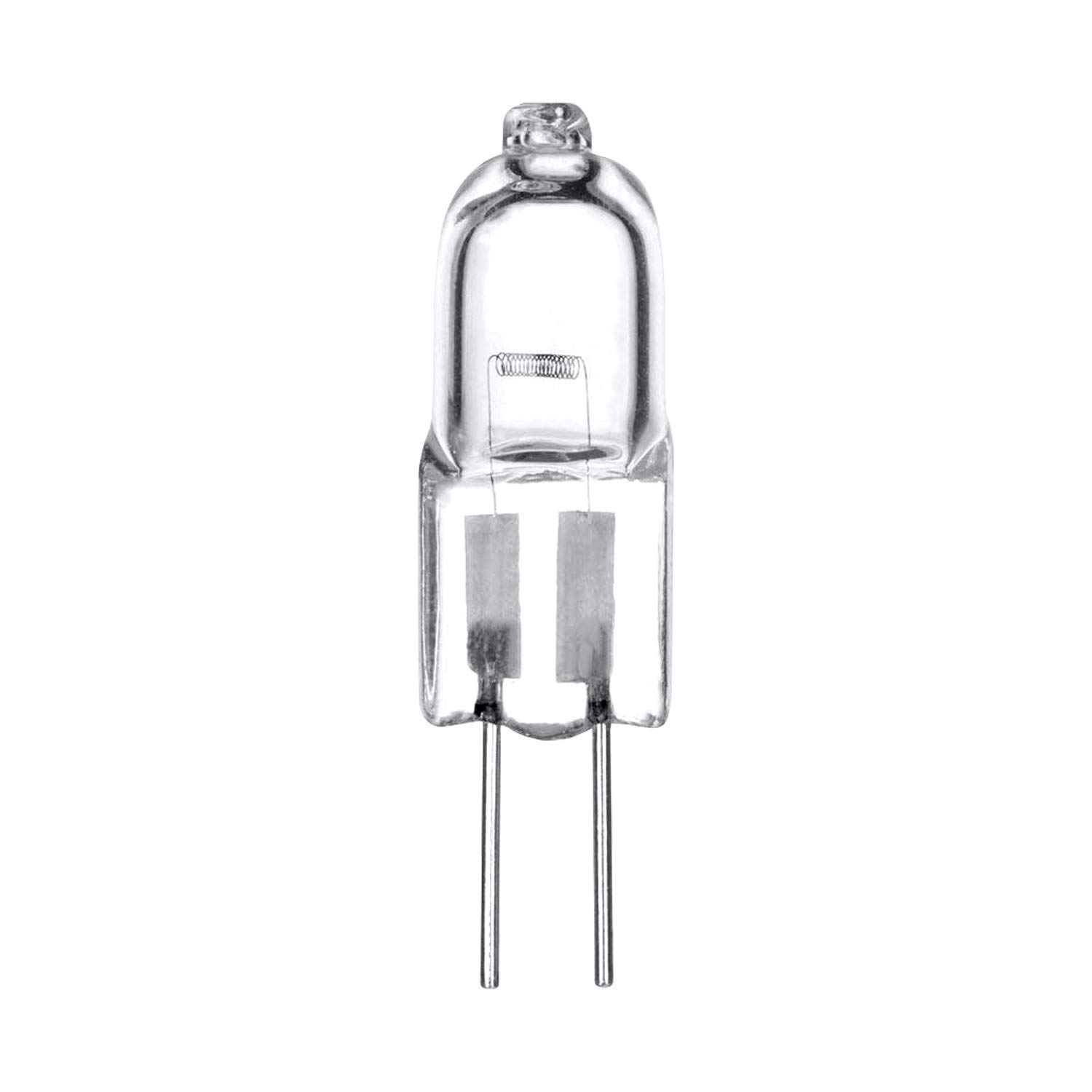 12 Volt Pack of 10 10//G4//CL//12V Clear 10 Watts Under Cabinet Puck Light Track Lighting Pyramid Bulbs G4 Bi-pin Base T3 JC Type Chandeliers Halogen Light Bulb Warm White 2700K Dimmable for Accent Lights