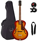 Godin 5th Avenue Cognac Burst Archtop Acoustic Guitar with Tric Case, Snark Tuner and Strap