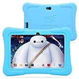 "Dragon Touch 7"" Quad Core Android Kids Tablet, with Wifi and Camera and Games, HD Kids Edition w/ Zoodles Pre-Installed Blue"