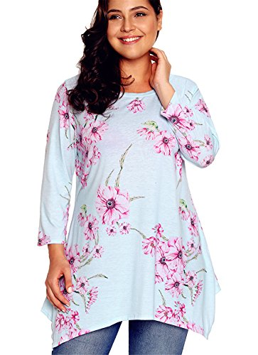 RwalkinZ Women's Girls Comfort Clothing Blouse Shirt Tops Asymmetric Hem Long Sleeves