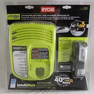 Ryobi P126 Li Ion 18v Battery And Intelliport Charger Kit