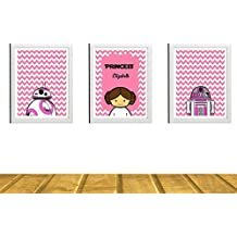 Star Wars Kids Art Prints - Set of 3 - 8 x 10 Adorable Photos - Kids Room or Nursery Wall Decor