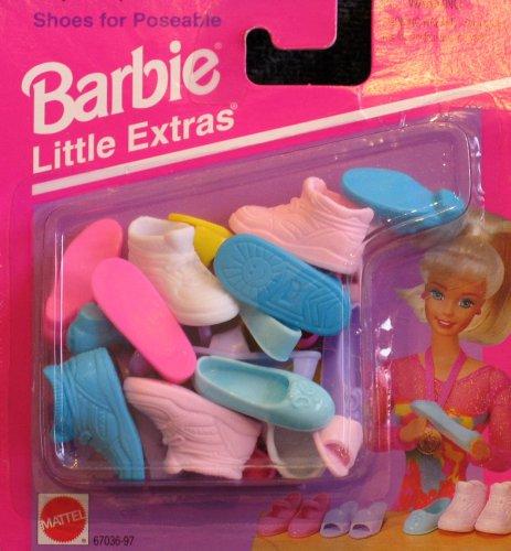Barbie: Little Extras Shoes for Poseable Barbie (1995 Arcotoys, Mattel) (Aqua Barbie Shoes)