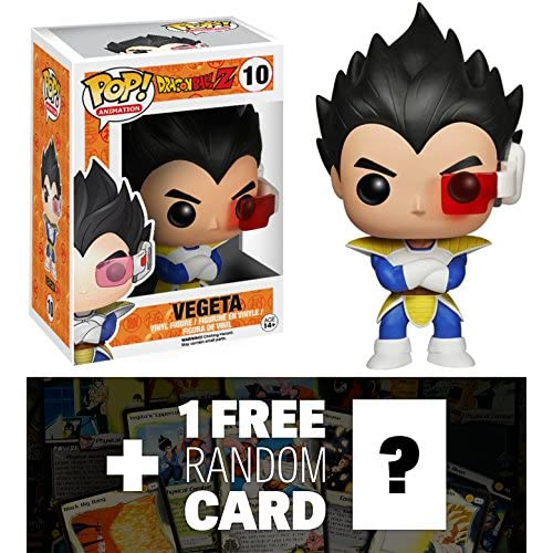 Vegeta: Funko POP! x DragonBall Z Vinyl Figure + 1 FREE Official DragonBall Trading Card Bundle [39912]