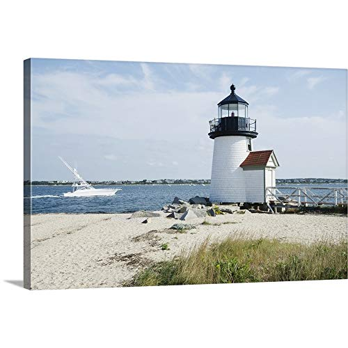 - Brant Point Lighthouse, Nantucket Canvas Wall Art Print, 30