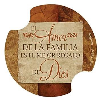 El mejor regalo familia es el mayor regalo de dios Carsters 2 Pk posavasos para su coche: Amazon.es: Hogar