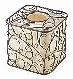 InterDesign Twigz Bath, Facial Tissue Box Cover/Holder for Bathroom Vanity Countertops - Vanilla/Bronze