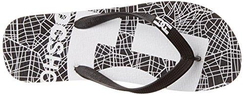 DC Shoes Spray Logo, Men's Flip Flop Black (Black Graphic)