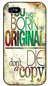 "iPhone 6 (4.7"") You were born original, don't die... black plastic case / Inspirational and motivational life quotes / SURELOCK AUTHENTIC"