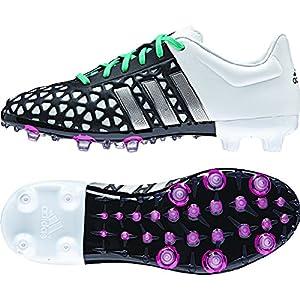 adidas ACE 15.1 FG/AG Junior Soccer Cleats (Black, White) Sz. 4