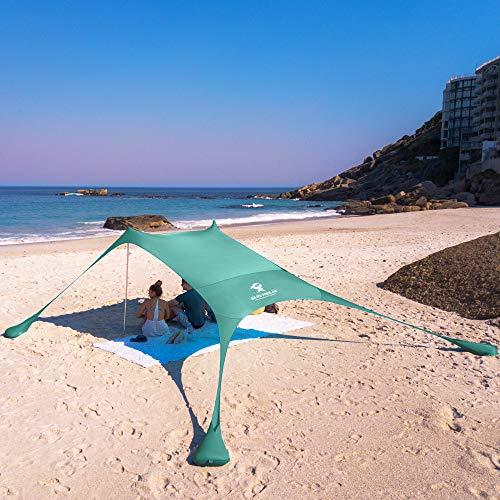 SUN NINJA Pop Up Beach Tent Sun Shelter