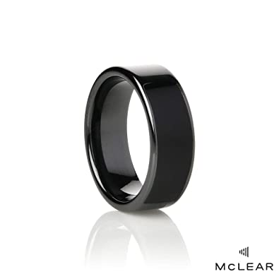 McLEAR Unisex Ceramic Programmable Smart Ring Eclipse