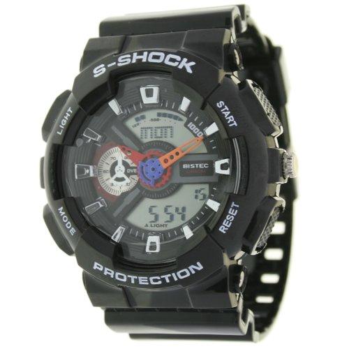 Reloj Digital-Analógico para hombre Bistec. Crono-Alarma-Luz.: Amazon.es: Relojes