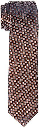 Van Heusen Men's Silk Dobby Tie, Orange
