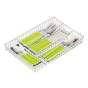 Zeller 24943 - Cubertería, 17 piezas, 30.5 x 21 x 3.5 centímetros, color verde