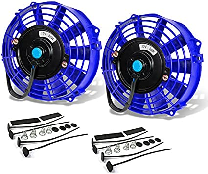 """Blue 16/"""" High Performance Electric Cooling Pull Slim Radiator Fan For Chevrolet"""