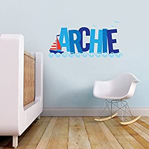 Vu0026C Designs Ltd (TM) Nautical Theme Sailing Boat Personalised Name Childrenu0027s  Bedroom Kids Room Playroom Nursery Wall Sticker Wall Art Vinyl Wall Decal  Wall ... Part 67