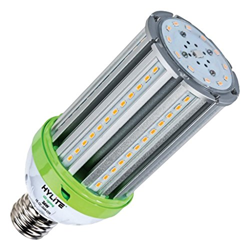 (HyLite LED Lighting HL-OC-36 W-E39-30K Omni-Cob Lamp, 175 W Equivalent, 3000K, 5040 Lumens, Ballast Bypass AC Direct Wiring 120-277V, Mogul (EX39) Base, Hid Retrofit, IP 65, UL and Dlc Listed, CE Certified, 20kA Surge Protection)