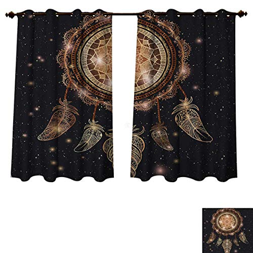 Anzhouqux Mandala Blackout Thermal Curtain Panel Native American