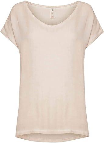 BlendShe Camiseta Jin Rosa Palo x-Small Rosa: Amazon.es: Ropa