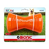 Tough Rubber Dog Bone, Durable Chew Toy for Large Dogs by Bionic, Large, Orange Review