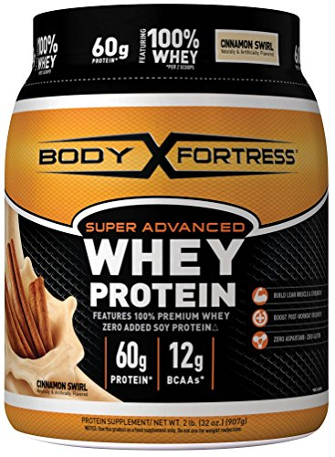 Body Fortress Super Advanced Whey Protein Powder, 2 Pound