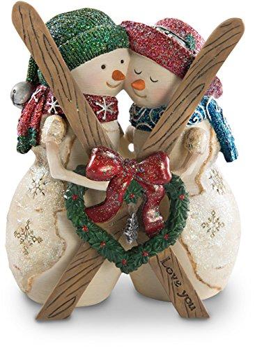 (Pavilion Gift Company Love You 4.5 Inch Double Snowman Figurine )