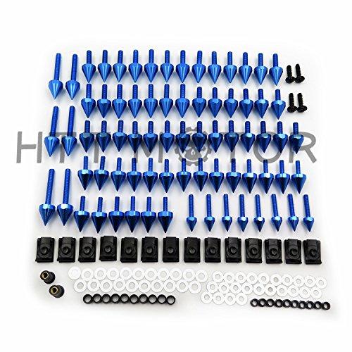 HTTMT Blue Universal Spike Fairing windscreen Bolts For Honda CBR 600 929 954 900 - Windscreen Bolts Spike