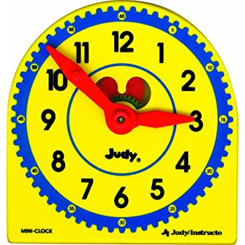 amazon com learning resources big time learning clock 12 hour rh amazon com Blank Clock Clip Art Funny Clock Face Clip Art